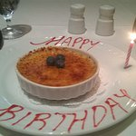 Complimentary Creme Brulee for my birthday!!!