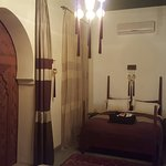 The bed area of Qama suite