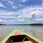Boat down the Amazon