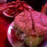 Reuben on rye, heavy hit burger with avocado, sweet potato fries
