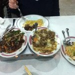 Crispy shredded beef, beef curry, prawn noodles