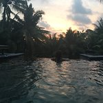 Sunset view from the pool.