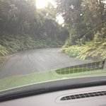 Narrow, twisty, steep access road - take care!