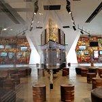 Relective photo intside museum