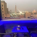 View from Indiana Hotel Cairo Rooftop Cafe