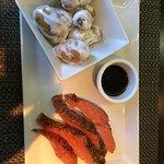 Saumon gravlax et pommes de terre grenailles (plat)