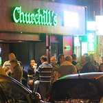 Churchill's bar from the outside