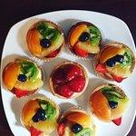 Fresh baked fruit tarts for breakfast!