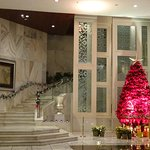 Stairway and Christmas Display