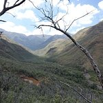 Aussicht vom Mountain Chalet auf die Bergwelt