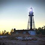 Rawley point lighthouse at dusk