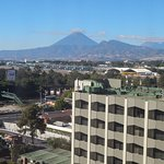View of Agua Volcano and airport from our Premium Duplex Suite