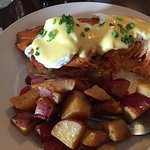 Eggs Benedict over Trout - so good!
