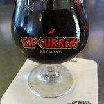Beers are available in 5oz. sampler portions; like this 2nd Anniversary stout.