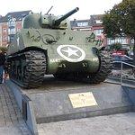 McAuliffe Square Sherman tank