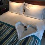 So haben wir unser Bett vorgefunden
