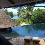 Blick aus der Huna Bar Richtung Strand