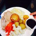 Afternoon Tea  Scampie lunch Roast pork dinner
