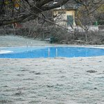 The swimming-pool in winter time