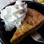 """I had this apple tart with whipped cream at the """"Liefhebber"""" restaurant near the hotel."""