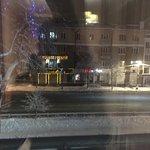 Вид из окна на главную улицу города