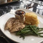 Gilmores Pan fried Chicken Bourguignon with Dauphinoise Potatoes and French beans
