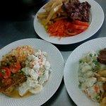 3 platos de menu diario