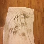 Dry towel with the rest