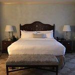 The bedroom of Suite 802.