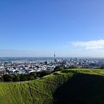 View of Auckland City and Sky Tower from Mt Eden