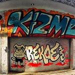 amazing graffiti art area in Toronto Queen Street