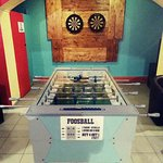 Darts, foosball table, Bitcoin atm