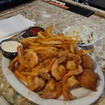 Fried shrimp awesome....Best cole slaw in town