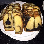 Free marble cake for guests.