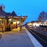 Manassas Amtrak/CARE Station platform at night