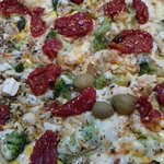 pizza vegetaria, muito boa