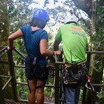 Walking the plank at the Tarzan swing.