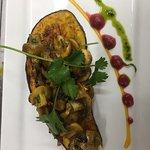 Roasted eggplant with mushroom varuval