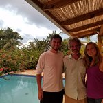 My lady and I, with Surfbreak Owner Julius (center). This man made our trip memorable. Thank you