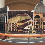 There is a very nice physical model of the building inside which shows a nice section of the bui