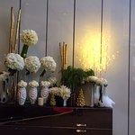 Sofitel Lobby with beautiful fresh flowers.