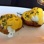 Eggs Benedict for breakfast at Cafe des Architectes