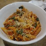 Penne del Sol with substituted tomato cream sauce
