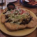 Delicious Navajo tacos with beef!