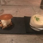 The AH desert: Cinnamon Panna Cotta and home made Ice Cream