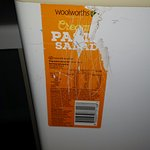 Pasta salad sticker on fridge?!