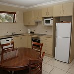 Kitchen/Dinning area in our One Bedroom Queen Bed Apartment