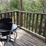 Outside the cabin, balcony