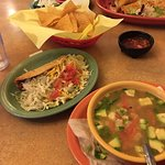 Hot flavorful Tortilla Soup -