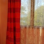Curtains in the master bedroom